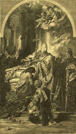 Benczúr Gyula: Vajk megkeresztelése
