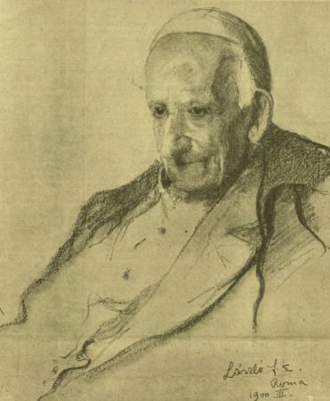 László Fülöp: XIII. Leó pápa arcképe, 1900