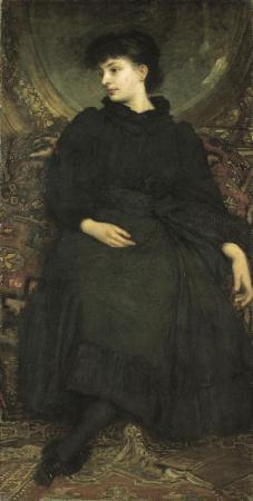 Lotz Cornélia fekete ruhában. 1896
