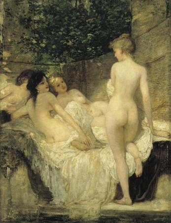 Lotz Károly: Fürdő után 1880 körül