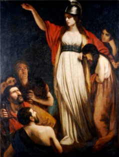 Boadicea Haranguing The Britons. John Opie, R.A. (1761-1807). Oil On Canvas.