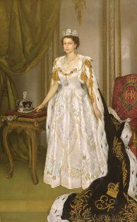 Queen Elizabet II. Coronation Portrait