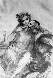 Zichy Mihály: Richelieu és kedvese, 1856
