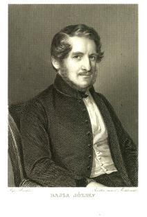 Bajza József, Barabás Miklós litográfiája 1830-ból
