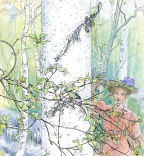 Våren, 1907, Carl Larsson