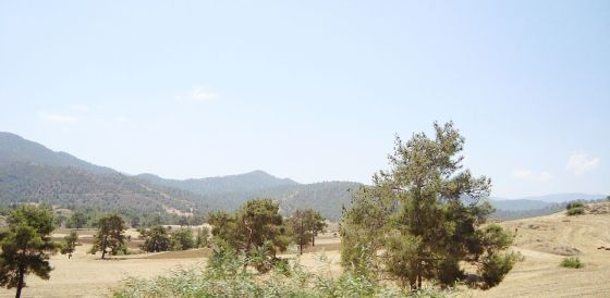 Cyprus countyside on Troodos Mounten
