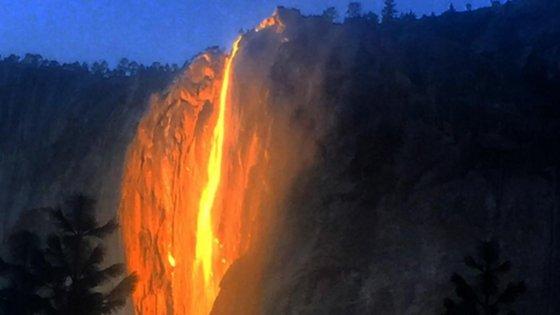 Firefall. Yosemite National Park