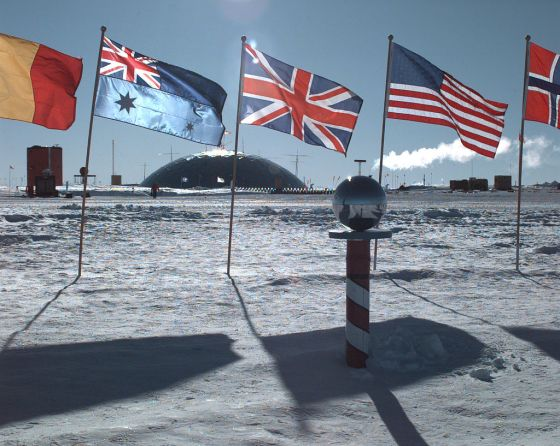 Amundsen Scott Station at South Pole