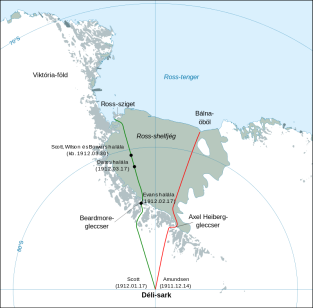 Antarctic expedition map