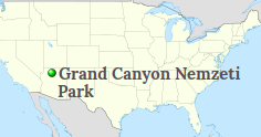 Grand Canyon localisation