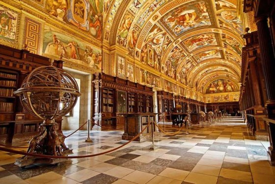 Royal Library Inside El Escorial Spanish