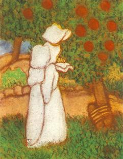 Rippl-Rónai József: Fehér ruhás nő