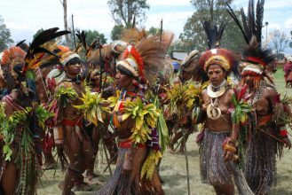 Sing sing festival at Mount Hagen Papua New Guinea