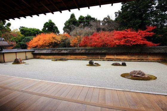 stone garden in Kyoto