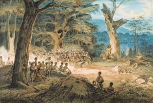 aboriginal, correboree