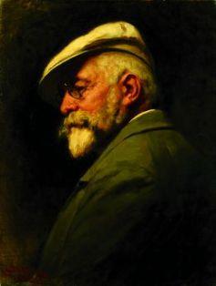 Gyula Benczur: Self-portrait