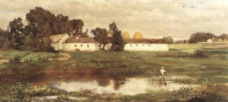 Szinyei Merse Pál: Puszta gólyával