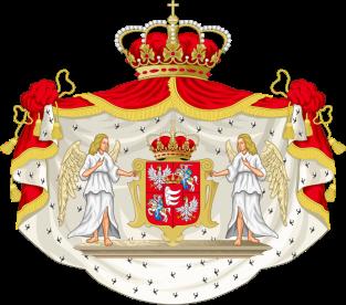 Báthory István díszes királyi címere