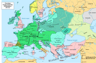 Europe in 814
