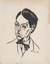 Sándor Márai portrat by Lajos Tihanyi, 1924