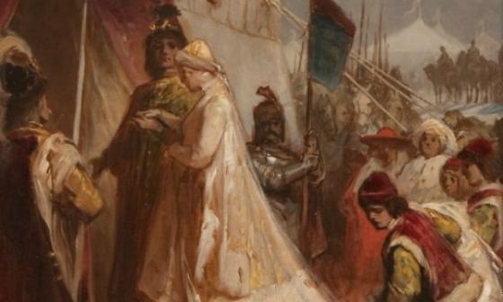 Matthias and Beatrix's wedding by Gyula Benczúr