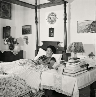 Frida Kahlo shortly before her death
