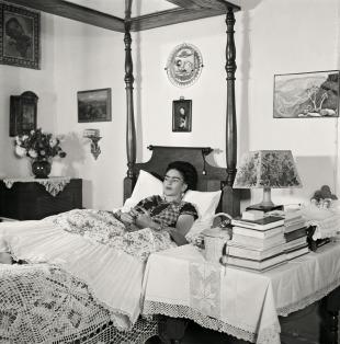 Frida Kahlo shortly before her death