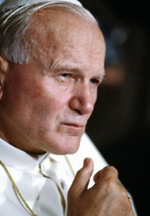 Pope John Paul II. in Lyon