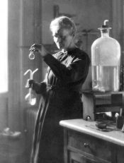 This 1925 file photo shows professor Marie Curie working