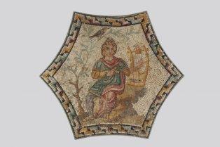 Hatszögletű mozaik: Orpheus