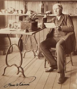 Thos Edison Photograph Signed