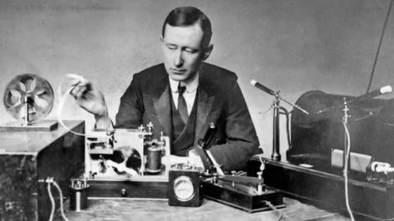 Guglielmo Marconi in South Wellfleet at 1903