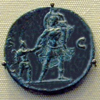 Aeneas, Roman coin