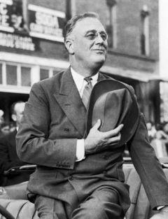Franklin Roosevelt salutes