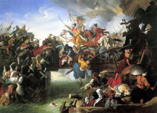 The siege of Szigetvár by Johann Peter Krafft
