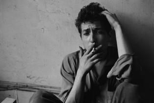 Bob Dylan in 1962 at Greenwich Village