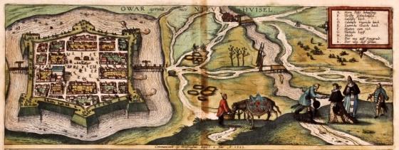 Érsekújvár Castle in 1595