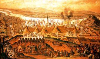 Siege of Buda on1686 by Frans Geffels