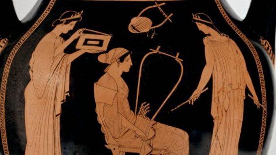 antik görög váza, részlet