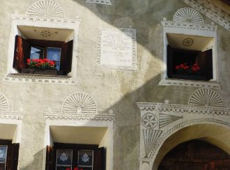 Sgraffito Decorated Houses in Guarda