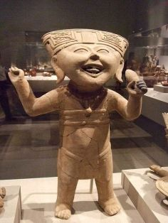 Smiling figure at ancient Mexico