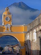 Saint Catherine's Gate and the Agua volcano