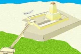 Reconstruction of the abu-ghurab sanctuary.