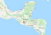 Position on map of Guatemala