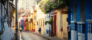 Cartagena, Colombia, old-town