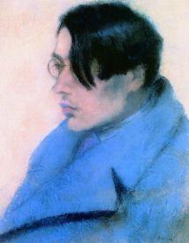 Rippl-Rónai József: Szabó Lőrinc portréja (1923, pasztellkréta papíron)