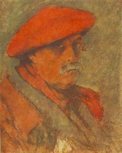 Rippl-Rónai József: Vörös sapkás önarckép (1924)