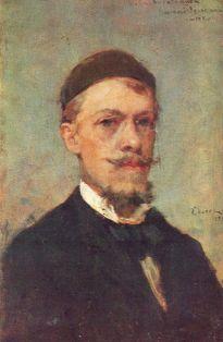 self-portrait by Deák-Ébner Lajos, 1883