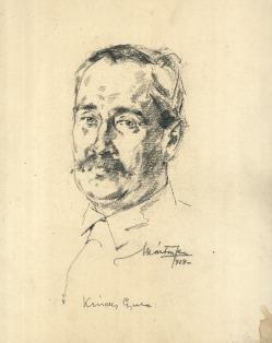 Gyula Krudy by Ferenc Marton