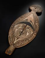 painted wood shield from New Guinea